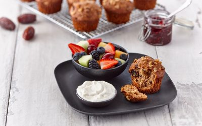 Muffins Superseed et Dattes sans gras